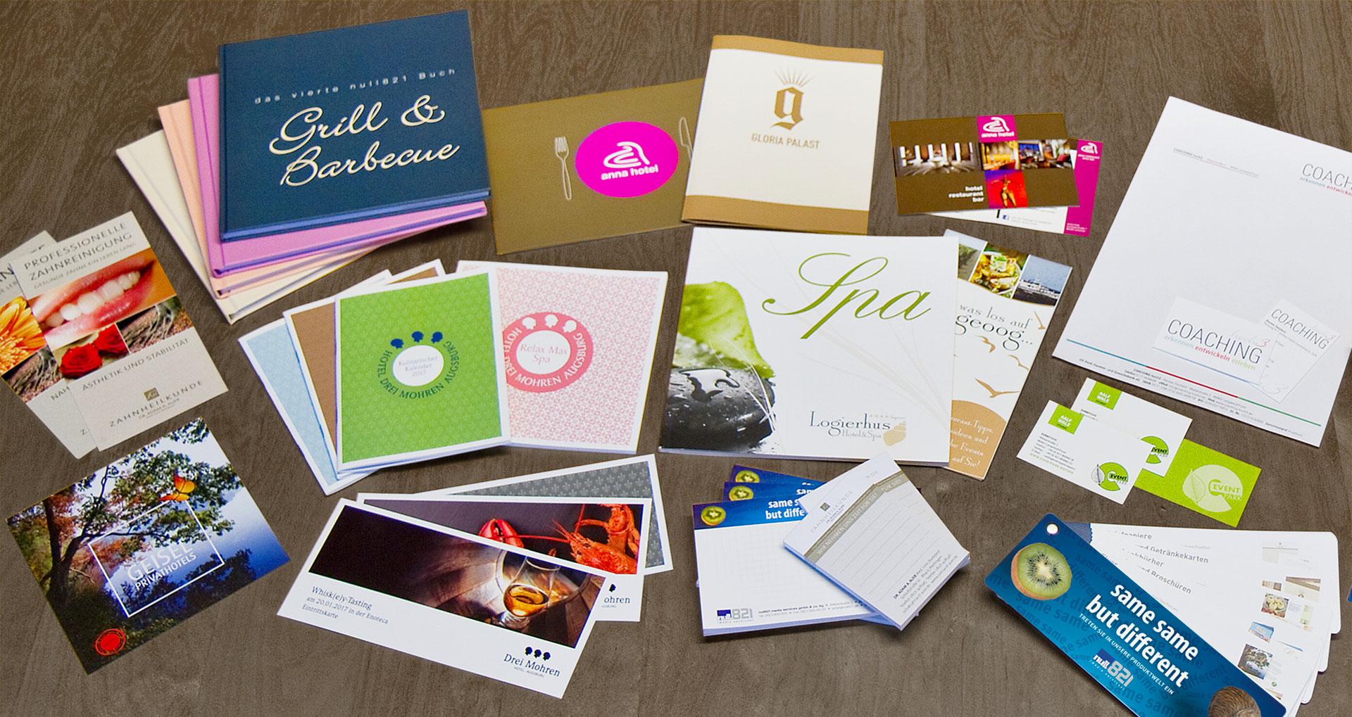 null821 Druckservice Print, Broschüre, Flyer, Briefbogen, Visitenkarten
