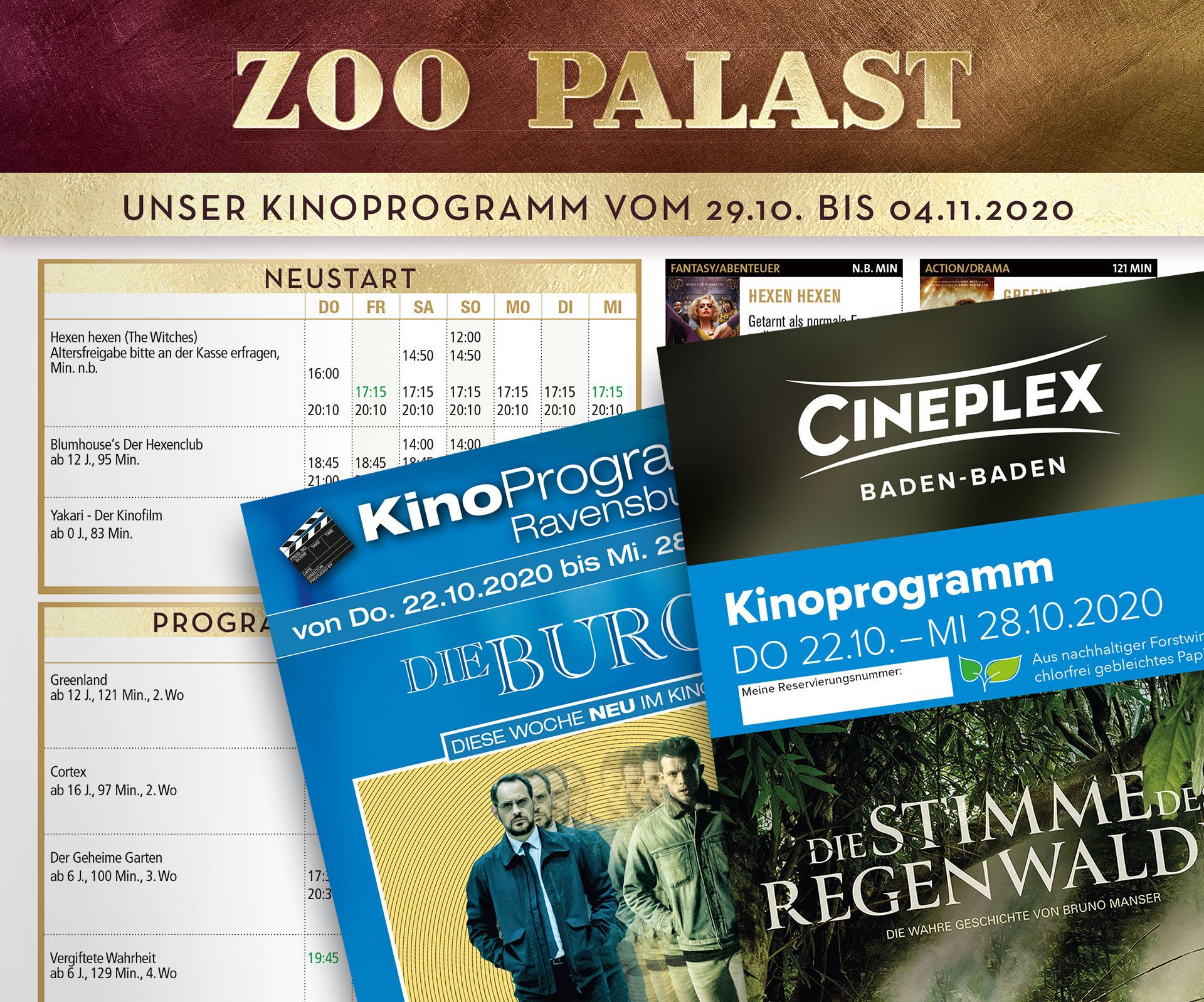 Kino Wochenprogramm Poster und Flyer