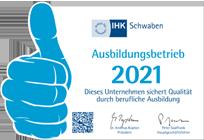 Ausbildungsbetrieb der IHK Schwaben 2021